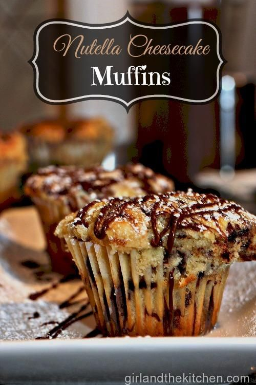 Nutella Cheesecake Swirl Muffins     oh.  I HAVE to make these.  need to find a squeeze bottle for the Nutella...then they are MINE.