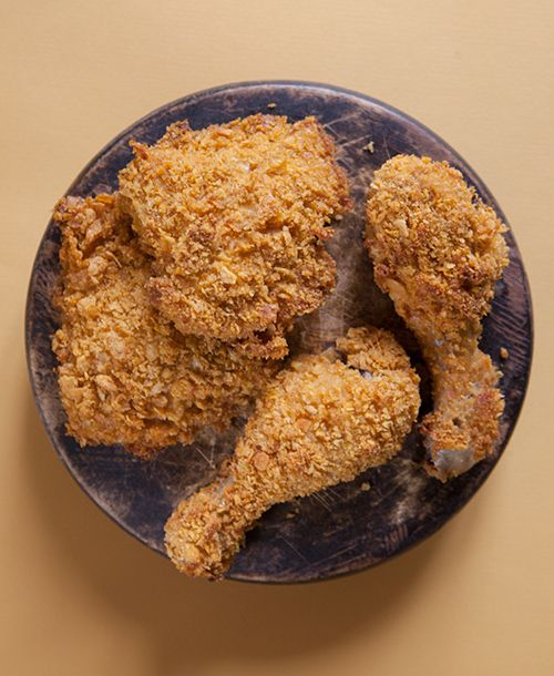 Finto Pollo Fitto: Pollo al forno con cornflakes | Un'americana in cucina