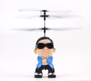 Gangnanm Style Remote Control Cute Helicopter by sannysis2008. $21.99. Control distance: About 10m  Flight time: 6~8 minutes per full charge  Charging time: About 40~50 minutes  Remote Control Battery: 6 x 1.5V AA Batteries ( not included). Dimensions:  ( 17.5*6.5*16.5 )cm (W x L x H). A amazing gift toy for your kid  It will bring your kid lots of fun. Weight: Approx 150g.(Without retailing packing). Package Include:  1 x Helicopter.(Withour retailing packing)  1 x Infrared Remo...