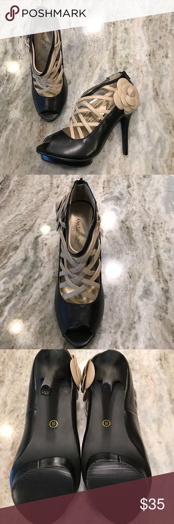 Shoe Dazzle NIB Back Zip Peep Toe Heels Size 8 Shoe Dazzle NIB Back Zip Peep Toe Heels Size 8 - Agyness Style. Never-worn and truly head-turning! Shoe Dazzle Shoes Heels
