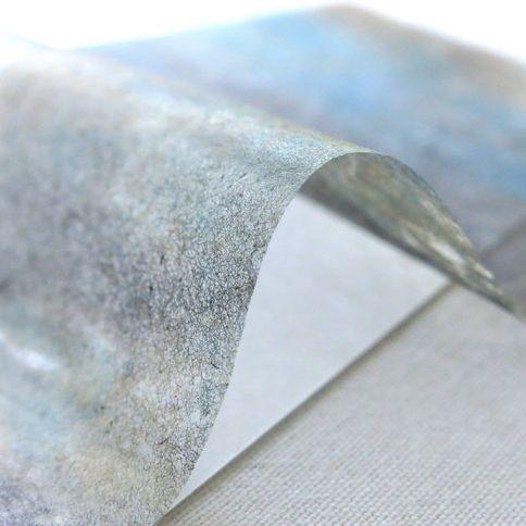 刷毛目白&薄様・柳しぼり染 便箋セット 20枚+5枚入 ストーン - WACCA ONLINESHOP