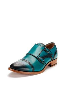 Teal Double Monk Straps