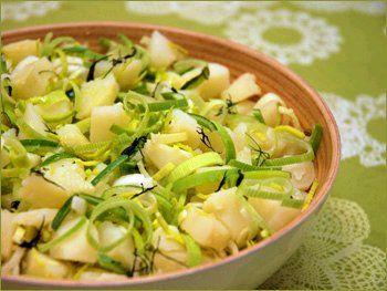 Kjapp potetsalat uten rømme.