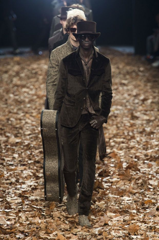 A look from the John Varvatos fall 2015 show in Milan. Photo: Imaxtree