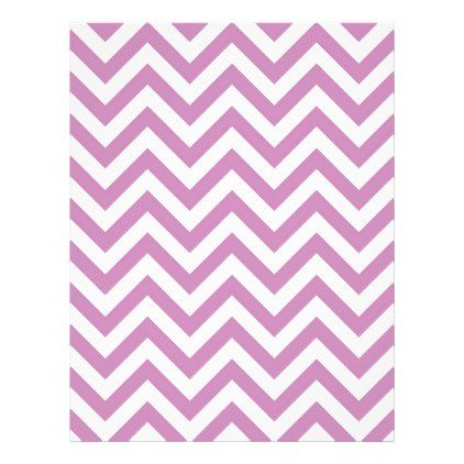 #Violet Purple Chevron Pattern Letterhead - #office #gifts #giftideas #business