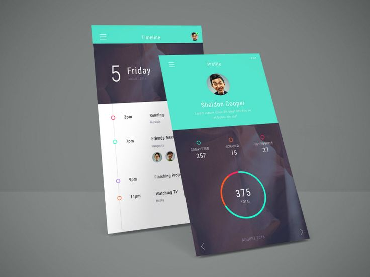 Here is an elegant PSD mockup of perspective app screens that will showcase your…