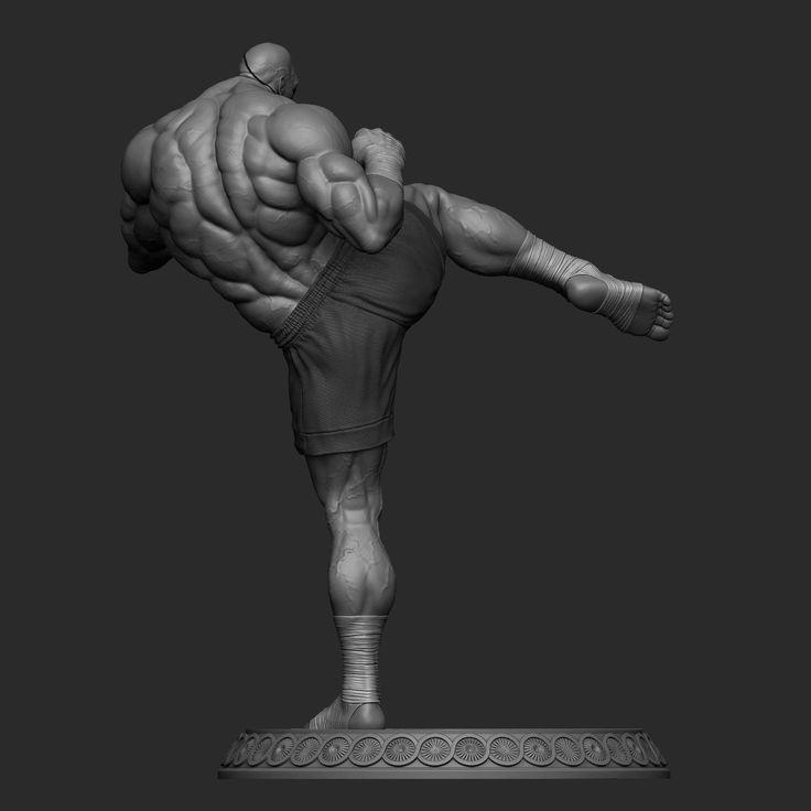 ArtStation - Street Fighter - Sagat, guillermo empinado