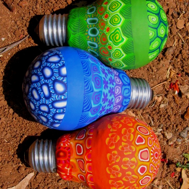 Intricately Painted Light Bulbs Light Bulb Art Light