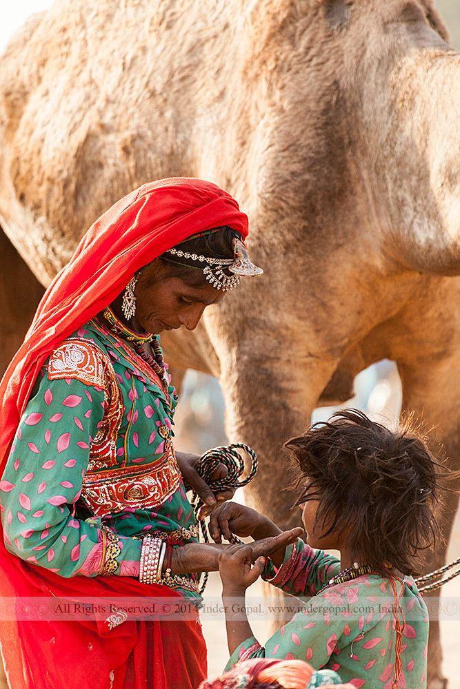 Pushkar Mela - Mother and child