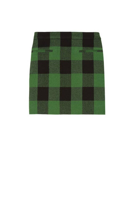 Stella McCartney's plaid wool skirt