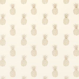 Pineapple Print Pewter Wallpaper
