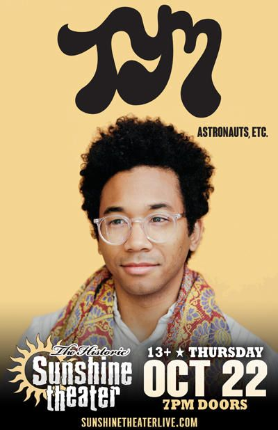 Toro Y Moi * Astronauts, etc. www.ToroYMoi.com Albuquerque @ Sunshine Theater - October 22nd 2015 8:00 pm
