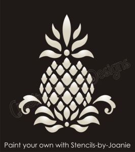 Primitive Pineapple STENCIL Colonial Folk Art Historic Family Welcome Home decor