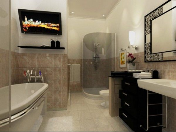 Picking Suitable Items And Applying Restful Coloring For Virtual Bathroom Designs Virtual Worlds Bathroom Design