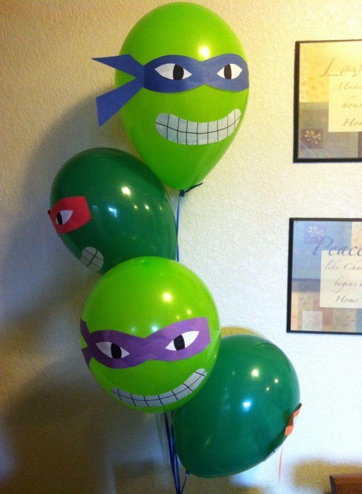 Tmnt Balloons Tmnt Ninja Turtle Birthday Cake Ninja