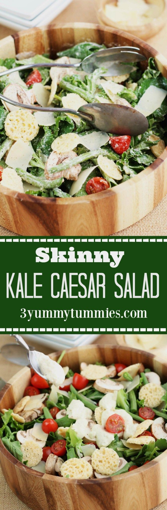 ... Caesar Salad with delicious lightened up dressing with Greek Yogurt