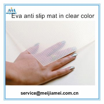 Color:  Transparent Material: Innoxious PVC Size: 1.2mm thinkness x1m widthx20m length Surface: Big grant and samll grain The innoxious PVC anti-slip mat is used for the drawer, which is proof slip, surface has big grain and small grain, feels soft It is easy to use and clean