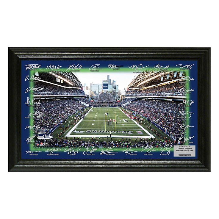 Officially Licensed NFL 2017 Signature Gridiron Print - Seahawks
