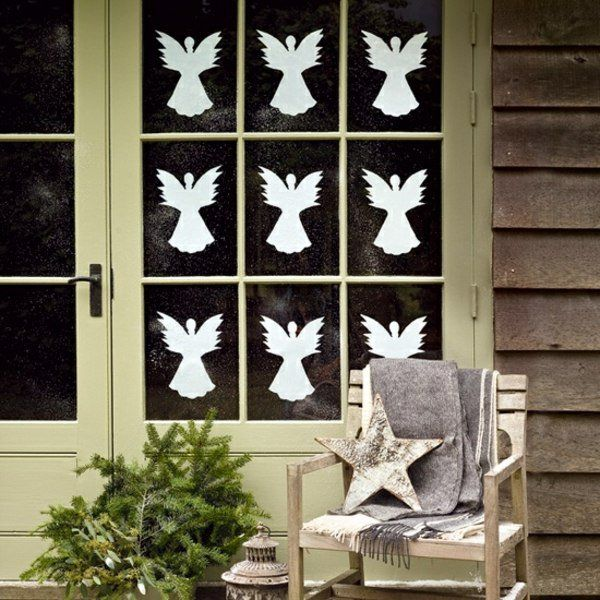 idées de décoration de Noël: anges en papier
