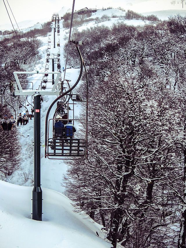 Chairlifts in the Cerro Catedral.