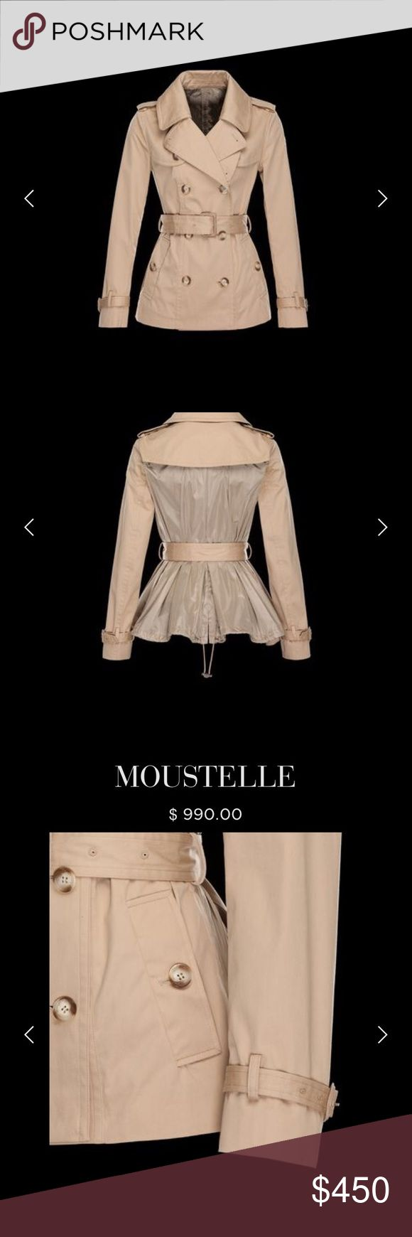 Authentic Moncler Jacket🎀 Dont be caught in the rain without this STEAL of a rain coat! Retails for 990 on the website and was purchased at Nordstrom! Super chic! Guaranteed authentic and comfortable!! Moncler Jackets  Coats Trench Coats
