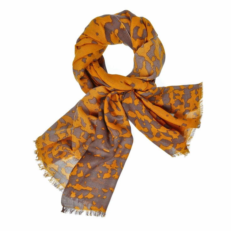 MYNUKA shawl geelgrijs