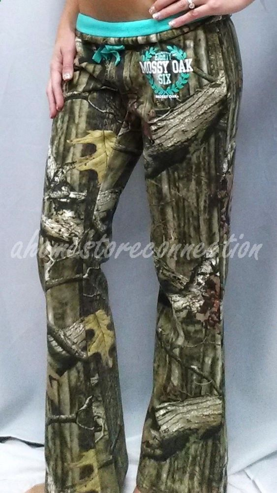 NEW~WOMENS MOSSY OAK CAMO TURQUOISE TEAL FLEECE HUNTING LOUNGE SWEAT PANTS~XL #MOSSYOAK #CasualPants