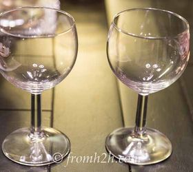 Best DIY Projects For Home Decorating: DIY Santa Wine Glasses