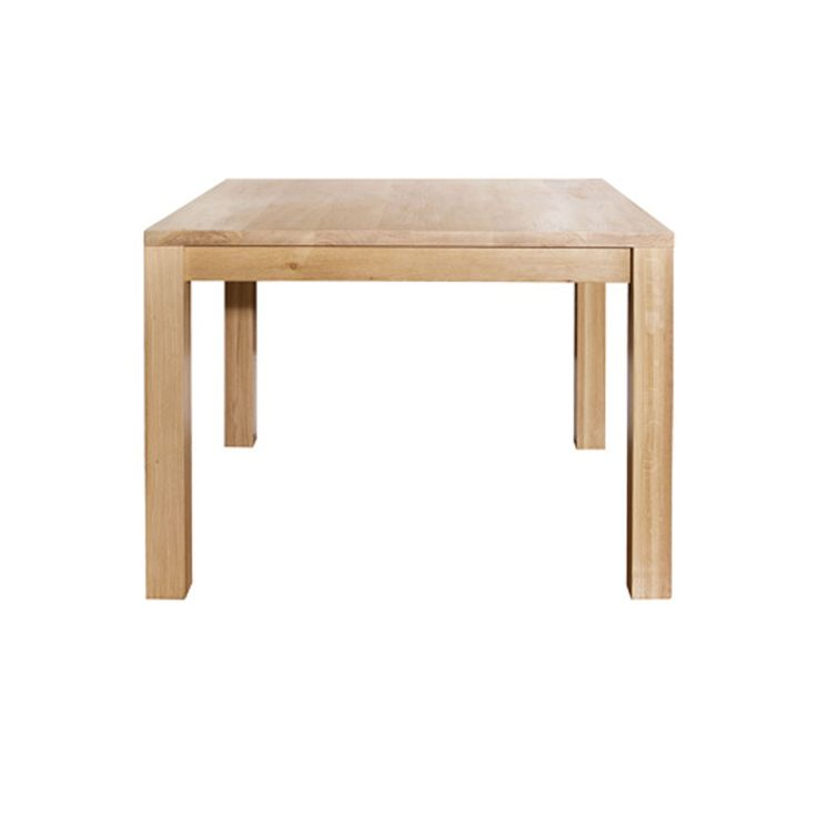Dining table solid sealed oak top and legs