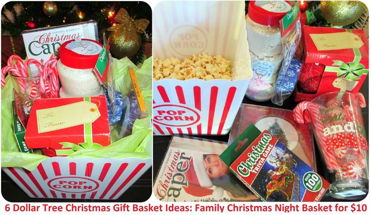 My Dollar Store DIY Christmas Gift Ideas for Cheap - Six Gift Baskets from Dollar Tree: Christmas Family Time BasketGift Baskets, Christmas Gift Ideas, Dollar Trees, Dollar Stores, Diy Gift, Christmas Families, Diy Christmas Gifts, Family Time, Families Time
