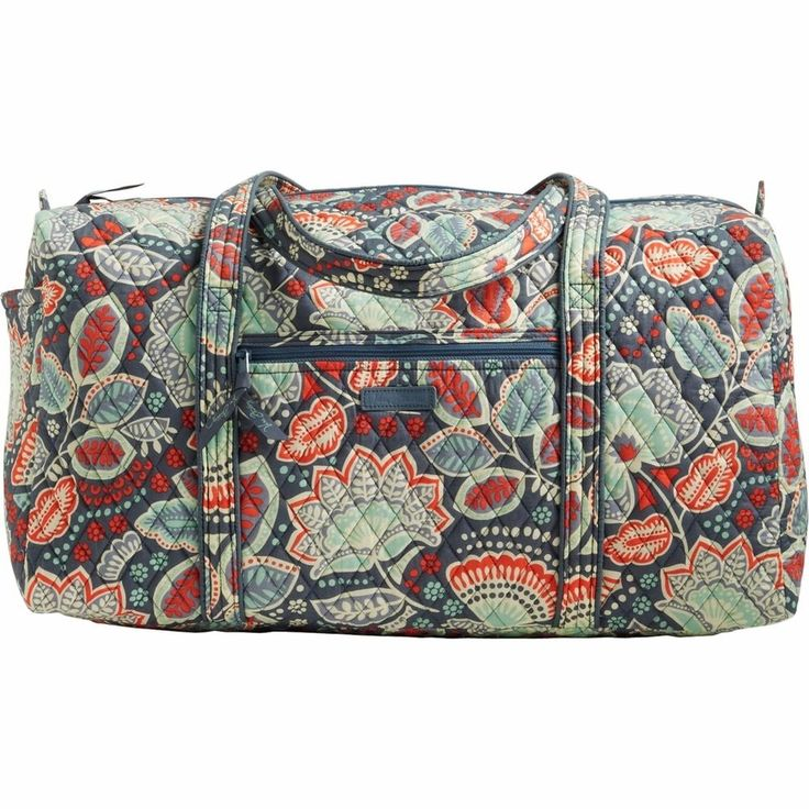Vera Bradley LARGE DUFFEL Bag ~ NOMADIC FLORAL Pattern ~ NWT Carry-on Luggage #VeraBradley #ShoulderBag