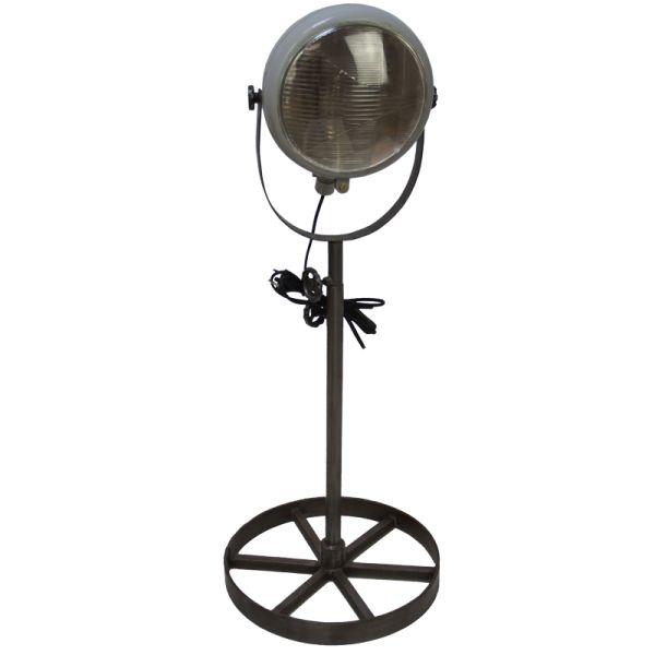 Lamp staand van oude koplamp grijs