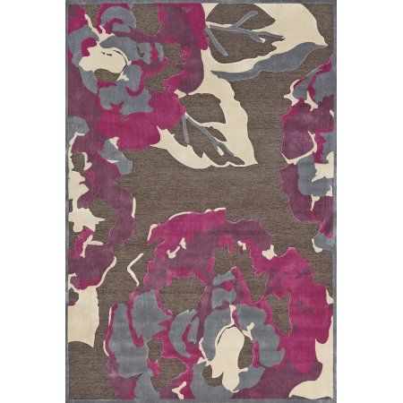 Room Envy Sagio Dark Area Rug Walmart Com Purple Area Rugs Area Rugs Silk Area Rugs