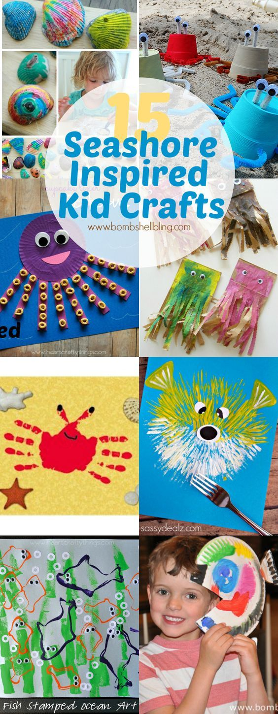 15 Seashore/Ocean/Underwater Inspired Kid Crafts - Perfect theme idea for VBS Vacation Bible School