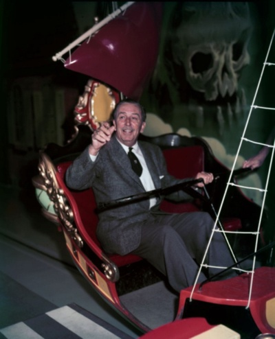 Walt Disney on Peter Pan's Flight. Peter Pan's Flight is a  GREAT ride for children! It is colorful, and tame.