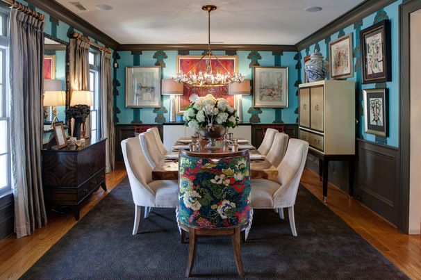 Eclectic Dining Room by Nicole Norris Design Studio, Inc.