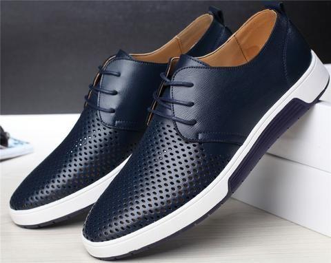 Merkmak men casual shoes leather