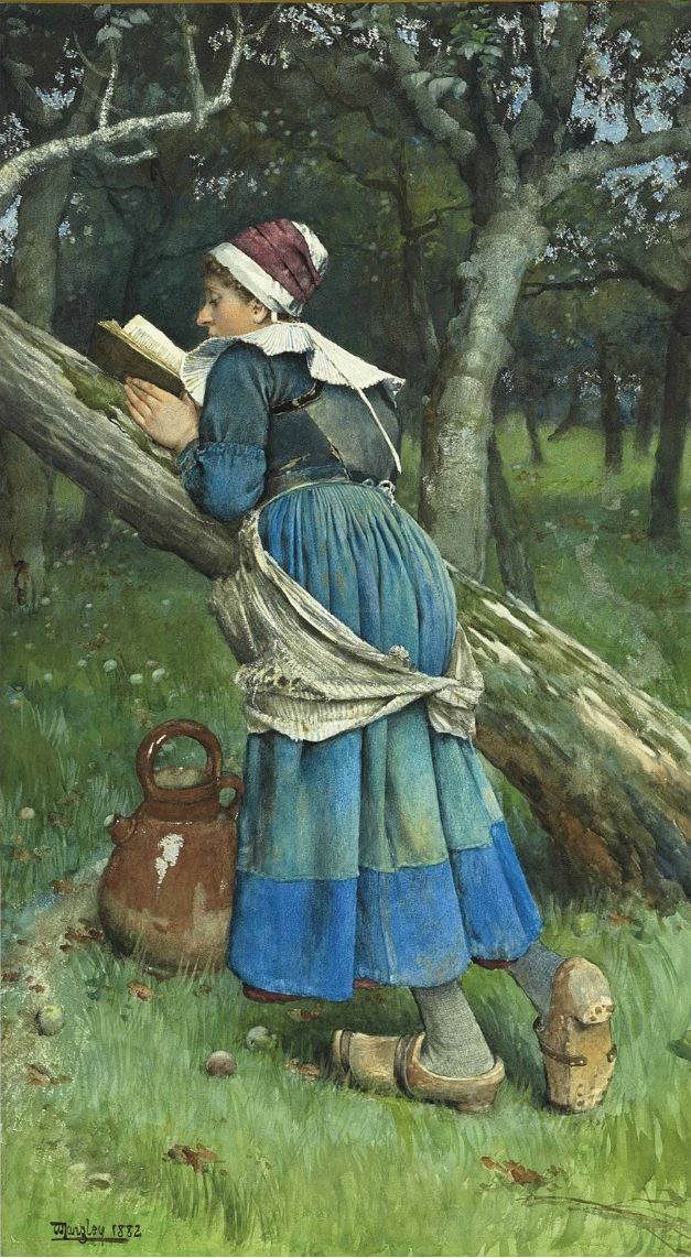 walter langley | lot 62 walter langley a maid of brittany 1882 pencil and watercolor ...