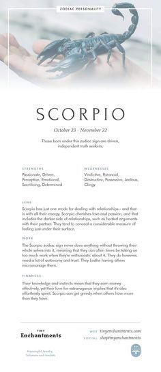 Scorpio Zodiac Sign Correspondences Scorpio Personality Scorpio