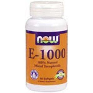 Vitamin E, 1000 IU - 100% Natural - d-alpha Tocopheryl - 50 Gels by Now Foods. $16.99. 100% Natural. Vitamin E is a major antioxidant and the primary defense against lipid peroxidation.. Vitamin E is a major antioxidant and the primary defense against lipid peroxidation.