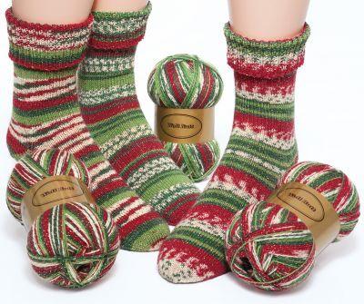 "Woll Butt Sockenwollpaket ""Santa"", 300 g € 15,95"