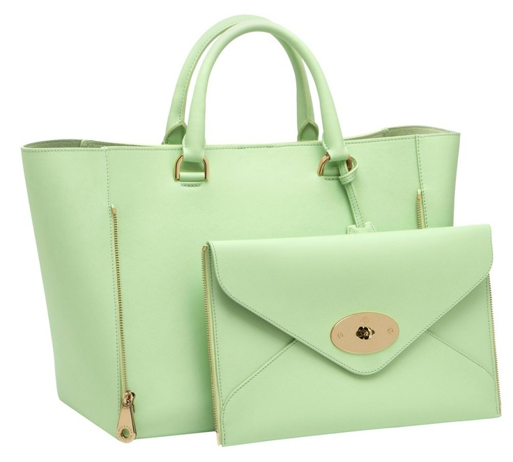 9386ed765412 ... reduced mulberry willow tote in mint classic calf fe373 019ed