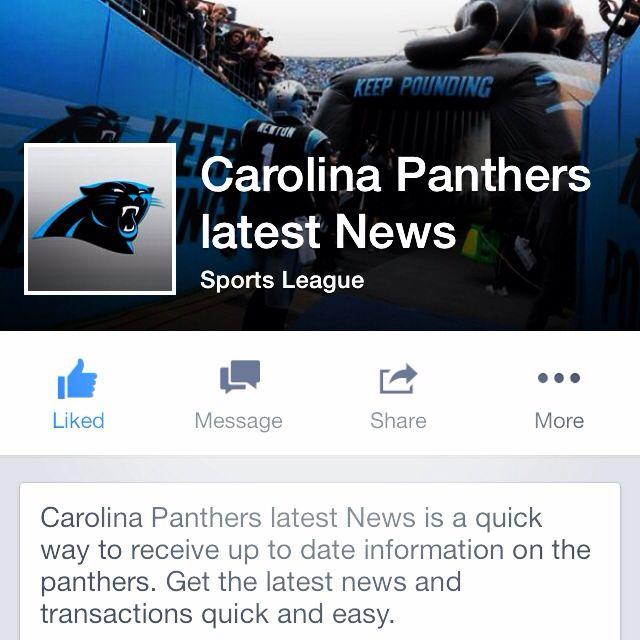 Carolina Panther News Page!! #panthernation #carolina