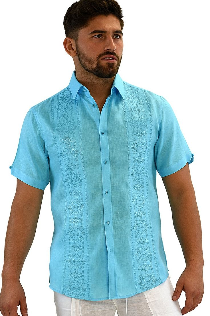 Mens Mexican Embroidered Shirts