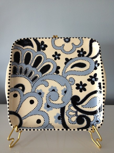 bandeja em ceramica