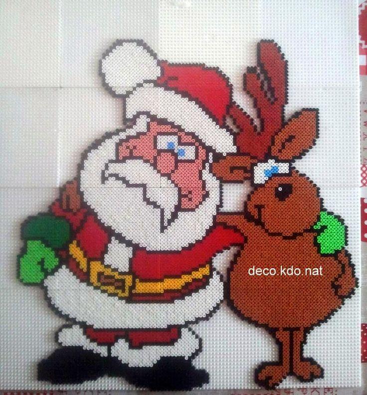 Santa Claus Christmas hama perler beads by deco.kdo.nat