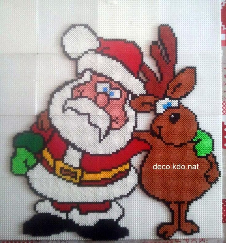 Santa Claus Christmas hama perler beads by deco.kdo.nat