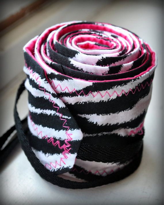Pink and Zebra Crossfit Wrist Wraps on Etsy, $17.00