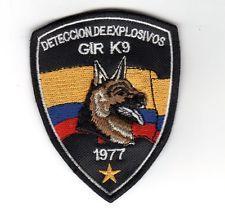 ECUADOR POLICE GIR K9 EXPLOSIVE SWAT CANINE GROUP 1977 DETECCION DE EXPLOSIVOS