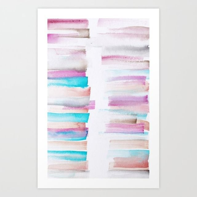 12 181101 Watercolour Palette Abstract Art Lines Stripes